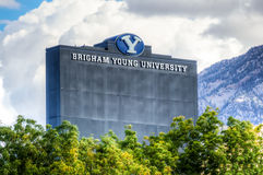 LaVell Edwards Stadium on Campus of Brigham Young University. Stock Photography