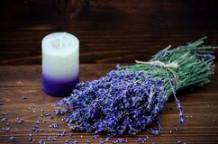 Lavendar and candle