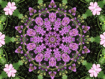 Lavendar Kaleidescope Illustration Stock