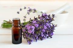 Lavendelöl Stockfotografie