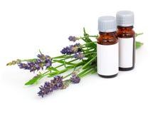 Lavendelöl und Lavendelblume Lizenzfreies Stockfoto