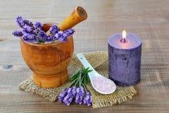 Lavendel aromatheraphy stockfotos