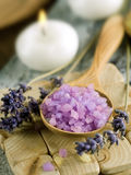 Lavendel-Badekurort Stockfotografie