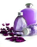 Lavendel BADEKURORT-Produkte Stockbild