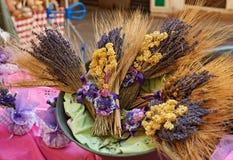 Lavendel bij de markt van de Provence Royalty-vrije Stock Fotografie