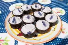 Lavendel Cupcakes Royalty-vrije Stock Afbeelding