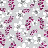 Lavendel en bloem-Liefde in Parise Seamless Repeat Pattern Background royalty-vrije illustratie