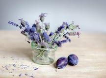 Lavendel en Pruim royalty-vrije stock afbeeldingen