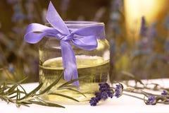 Lavendel en Rosemary Aroma Oil Stock Afbeelding