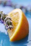 Lavendel en sinaasappel royalty-vrije stock afbeelding