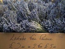 Lavendel für Verkauf Stockbild