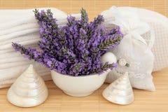 Lavendel Flower Spa Royalty-vrije Stock Afbeelding