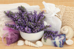 Lavendel Herb Spa royalty-vrije stock foto