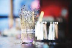 Lavendel-Kerze Lizenzfreies Stockbild