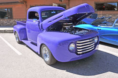Lavendel-LKW Stockfoto