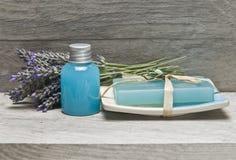 Lavendel op de plank. Stock Afbeelding