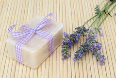 Lavendel-Seife Lizenzfreies Stockbild