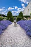 Lavendel Sundialvertikale Lizenzfreie Stockfotografie