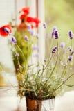 Lavendel und Mohnblume Stockbilder