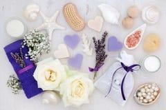 Lavendel und Rose Spa Treatment Stockbilder