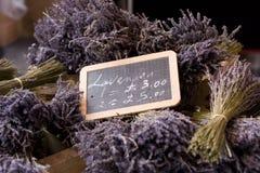 Lavendel voor verkoop Stock Foto