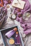Lavendelachtergrond Kuuroord en parfumthema Royalty-vrije Stock Afbeelding