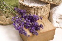 Lavendelbad Stockfotografie
