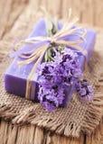 Lavendelbadekur Lizenzfreie Stockbilder
