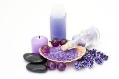 Lavendelbadekurort stockfotografie