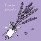 Lavendelblumensträuße und -aufkleber Lizenzfreies Stockbild