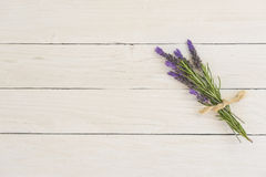 Lavendelblumenstrauß Stockfoto