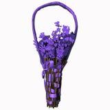 Lavendelblumenstrauß-Vektorillustration Stockfotos