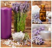 Lavendelbrunnsortuppsättning Royaltyfria Foton