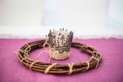 Lavendeldekoration für Feiertage Lizenzfreie Stockbilder