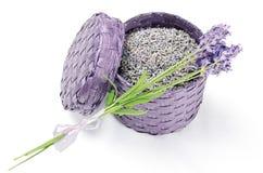 Lavendeldoos royalty-vrije stock afbeelding