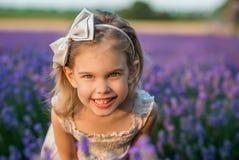 Lavendelflicka Fotografering för Bildbyråer