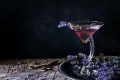 Lavendelgetränk Lizenzfreies Stockfoto