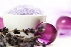 Lavendelkarosseriensorgfalt Stockfoto