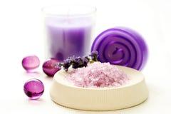 Lavendelkarosseriensorgfalt lizenzfreies stockbild