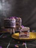 Lavendelkorinthenkuchen Lizenzfreies Stockbild