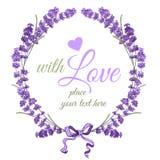 Lavendelkrans stock illustrationer