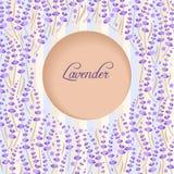 Lavendelkreis Stockfotografie