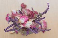 Lavendelliten bukettbukett Arkivfoto