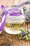 Lavendelolie Royalty-vrije Stock Foto's