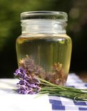 Lavendelolie Royalty-vrije Stock Afbeeldingen