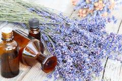 Lavendelolja Fotografering för Bildbyråer