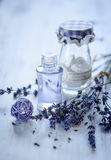 Lavendelolja Arkivfoton