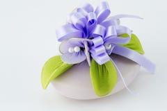 Lavendelseife Stockfoto
