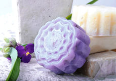 Lavendelseife Stockfotografie