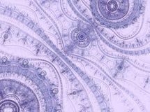 Lavendelspitzee Abstraktes computererzeugtes Bild Stockbilder